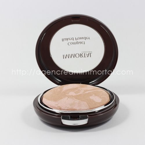 compact baked powder chrystal natural