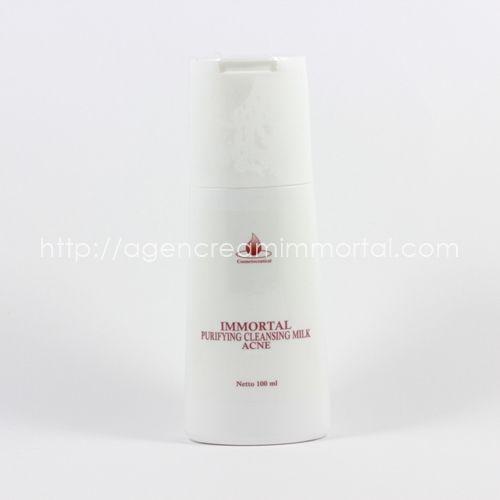 cleansing milk acne agen cream immortal