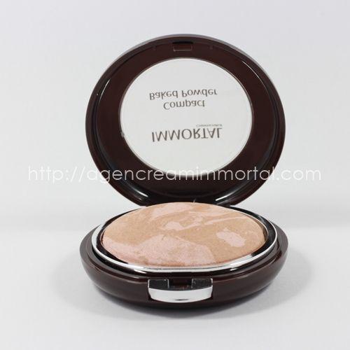 compact baked powder chrystal natural