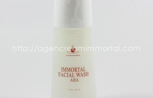 IMMORTAL FACIAL WASH AHA