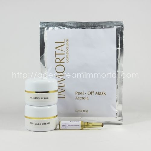 paket facial anti aging agen cream immortal